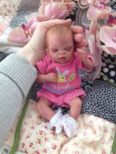 Adorable teeny tiny 10 reborn baby from the by SweetPetiteNursery, $219.00