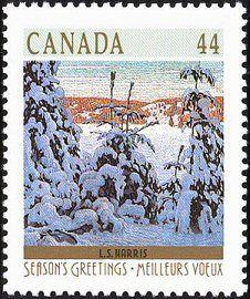 Christmas 1989 postage stamp MNH Canada Stamp-Mint Scott Christmas 1989 Stamp for sale-NA C Tom Thomson, Canada Christmas, Postage Stamp Design, Commemorative Stamps, Group Of Seven, Love Stamps, Vintage Stamps, Canadian Artists, Winter Landscape