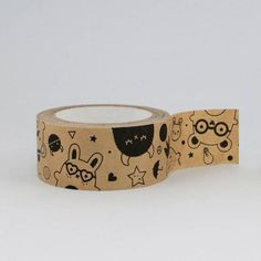 kraft large pattern masking tape from noodoll