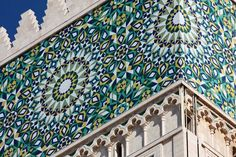 King Hassan II Mosque,  minaret detail