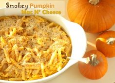 Smokey Pumpkin Mac N' Cheese - a healthy version that isn't just for kids!