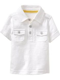 Slub-Knit Double-Pocket Polos for Baby | Old Navy