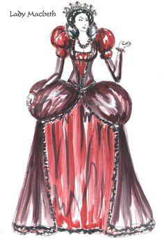Lady Macbeth Costume Sketch