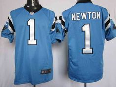 Nike Carolina Panthers #1 NEWTON Blue Limited Jerseys