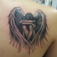 m dchen engel tattoo ideen design vorlage mehr ich pinterest tattoo ideen engel tattoo. Black Bedroom Furniture Sets. Home Design Ideas