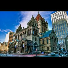 """Located in Back Bay's Copley Square, Trinity Church is the only church in the United States and the only building in Boston that has been honored as one of the """"Ten Most Significant Buildings in the United States"""" by the American Institute of Architects. It has also been designated as a National Historical Landmark."""