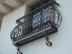 wrought iron balcony railings - All About Balcony Balcony Grill, Iron Balcony, Balcony Railing, Wrought Iron Window Boxes, Wrought Iron Gates, Modern Stair Railing, Staircase Railings, Wrought Iron Garden Furniture, Juliette Balcony