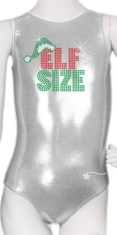 Elf Size Leotard I am getting these for my kids for Christmas Gymnastics Sayings, Gymnastics Suits, Gymnastics Clothes, Tumbling Gymnastics, Gymnastics World, Dance Outfits, Sport Outfits, Volleyball Outfits, Baseball Training