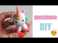 DIY - Unicórnio Kawaii em Biscuit *--* - YouTube