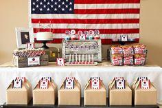 flag patriotic army dessert snack table
