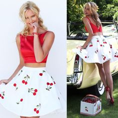 Short Two-Piece Baby Doll Dress by Sherri Hill
