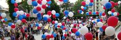 Ballons gonflables bleu blanc rouge Ballons, Anniversary, France, Learning, Garden, Party, Bouncy Ball, Red, Blue