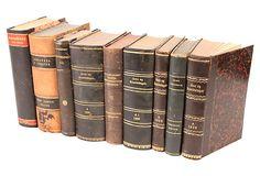 Decorative Leather Books, Set of 9 on OneKingsLane.com