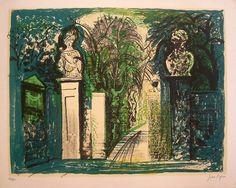 John Piper: Petworth Park Gates (1958)