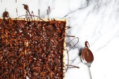 The Nut Tart -- made from the holdings of your pantry -- that Jackson Pollock would have made!