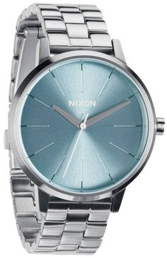 Silver Nixon Watch | Nixon The Kensington Watch - Peppermint | Nixon Watches and More Available @ KJ Beckett