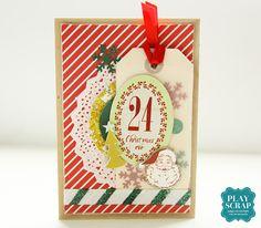 Tarjetas de Navidad con Mistletoe Magic de My Mind's Eye Mistletoe, Advent Calendar, Scrap, Magic, Eye, Holiday Decor, Cards, Home Decor, Christmas Cards