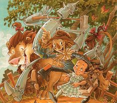 25 Various Styles of The Wizard of Oz Illustrations. How cool!