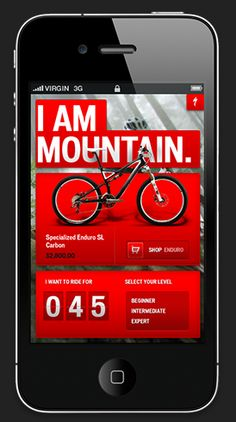 Designspiration — Specialized bikes iphone app design