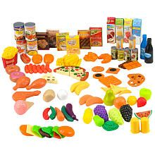 Just Like Home Super Play Food Set - 120 Pieces $17.99 (Online Only! 'Just Like Home' items - Buy 1 Get 1 50% OFF!)