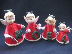 Vintage NOEL Christmas angels