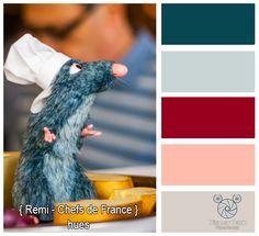 Disney Park Photography - Photo: Chefs de France - Remi - Colors