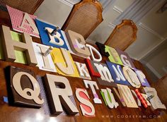 Alphabet Wall - How to