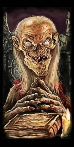 Hello kiddies~ The Crypt Keeper Horror Posters, Horror Icons, Classic Horror Movies, Iconic Movies, Halloween Horror, Halloween Art, Les Aliens, Horror Drawing, Rock Poster