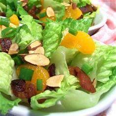 ensalada mandarinas y almendras