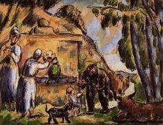 The Fountain, 1872, Paul Cezanne Medium: watercolor on paper