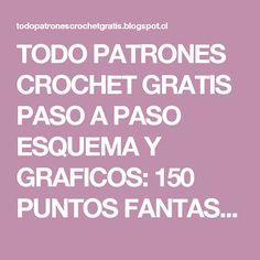 TODO PATRONES CROCHET GRATIS PASO A PASO ESQUEMA Y GRAFICOS: 150 PUNTOS FANTASÍA EN CROCHET CON GRÁFICOS PATRONES GRATIS Crochet Stitches, Pearl Flower, Knitting, Crafts, Cricket, Bikinis, Stitches, Rugs, Crochet Motif