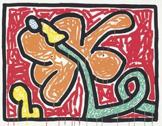 Keith Haring (1958-1990) Flowers Suite: one plate