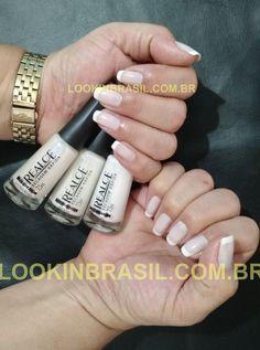 Look Francesinha com Esmaltes Realce da Dailus - 001 Branco - 103 Erica - 321 Fascinação