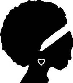 free woman silhouette clip art black female afro silhouette clip rh pinterest com  african american women clipart free