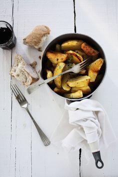 Coelho assado com vegetais e tomilho # Roasted rabbit with vegetables and thyme