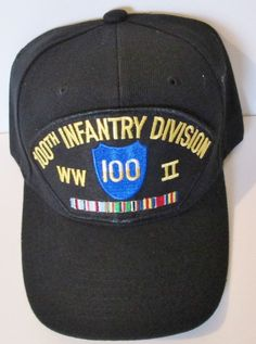 100TH INFANTRY DIVISION  WORLD WAR II  W/ CAMPAIGN RIBBON BALL CAP/HAT #MILPRO #BallCap
