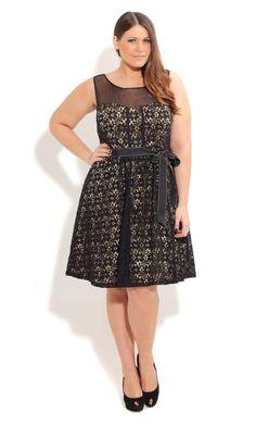 Plus Size Lace Laura Dress - City Chic - City Chic