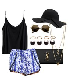 """""""Untitled #51"""" by bo-zee-bo ❤ liked on Polyvore featuring H&M, Yves Saint Laurent, MANIAMANIA, INDIE HAIR and Maison Margiela"""