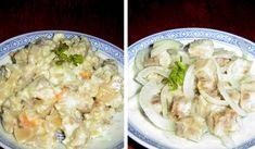 ČSN: Salát z rybího filé s majonézou a salát z tresky Pasta Salad, Potato Salad, Sushi, Salads, Low Carb, Potatoes, Homemade, Meat, Chicken