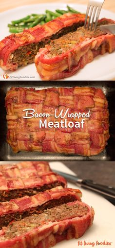 Ultra Low-Carb Bacon-Wrapped Meatloaf (I'd use ground turkey though)