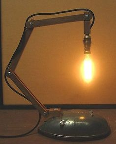 articulated lamp Steampunk? shabby chic retro vintage BSA anglepoise unique