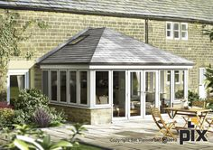 Pergola With Glass Roof Tiled Conservatory Roof, Conservatory Extension, Roof Extension, Conservatory Ideas, Orangery Conservatory, Extension Ideas, Crittall Extension, Conservatory Kitchen, Cedar Pergola