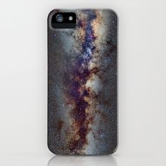 The Milky Way: from Scorpio, Antares and Sagitarius to Scutum and Cygnus iPhone Case by Guido Montañés - $35.00
