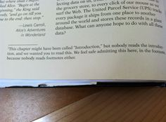 Footnote from a textbook #introductions