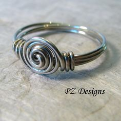 Simple Wire-Wrapped Ring. Tutorial Shows Step By Step Instructions. Love This Simple Ring.