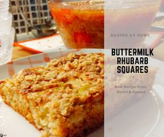These squares are my new favorite thing to bake, I might be slightly obsessed. The brown sugar and cardamom give the squares a caramel type of flavor. If you want, you can change the brown sugar to. Rhubarb Squares, Buttermilk Recipes, Spoons, Cornbread, Brown Sugar, New Recipes, Caramel, Baking, Ethnic Recipes