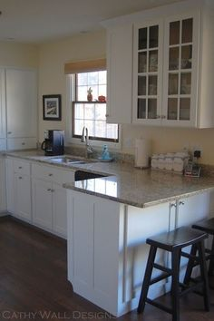 30S Cottage Kitchen Remodel If No Room For An Island A Peninsula Inspiration Small Kitchen Remodels Design Ideas
