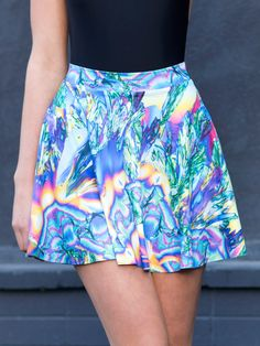 Psychedelic Science Skater Skirt S Skirt Outfits, Cute Outfits, Skater Skirt, Dress Skirt, Psychedelic Fashion, Vintage Hipster, Black Milk Clothing, My Black, Festival Outfits