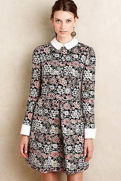 Brocade Blossom Mini Dress