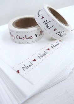 Masking tape Christmas NOEL
